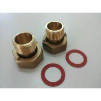 Set racorduri din alama pentru contor DN 32 ( compus din 2 niple 1-1/4 + 2 piulite olandeze 1-1/2 + 2 garnituri)