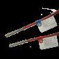 Pereche termorezistente sertizate PT 1000, lungime de imersie: 85 mm, Dia 6 mm, lungime cablu 2 ml