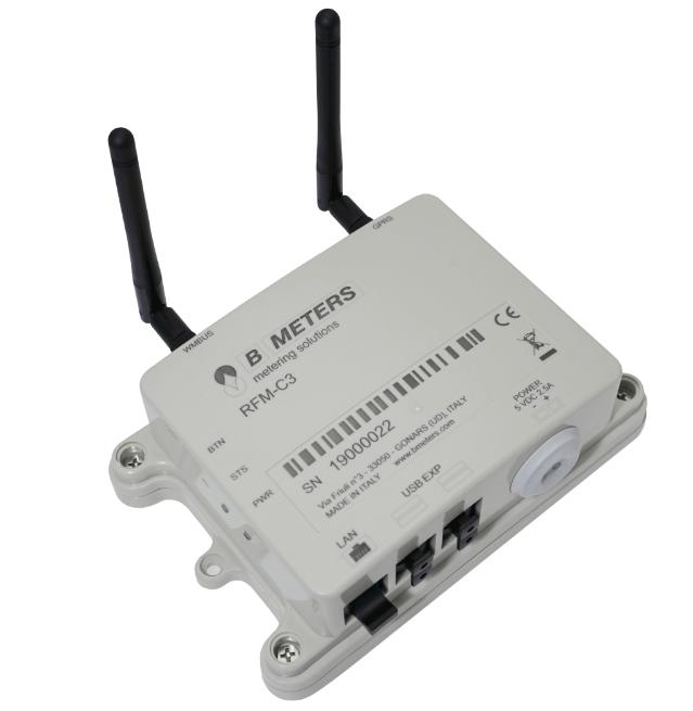 Receptor/ concentrator radio RFM-C3 ce permite colectarea datelor de la modulele RADIO RFM-TX1.1, RFM-TX2.1, RFM-TXE OMS, si transmiterea lor cu o frecventa zilnica/ saptamanala/ lunara prin e-mail la beneficiar