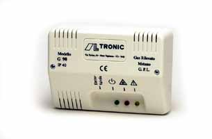 Detector gaz metan si GPL, semiconductor, tip ALLTRONIC G91, 230 Vca,  sensibilitate 0,65% CH4, 0,23% GPL., 1 contact ND, 230Vca, 5A