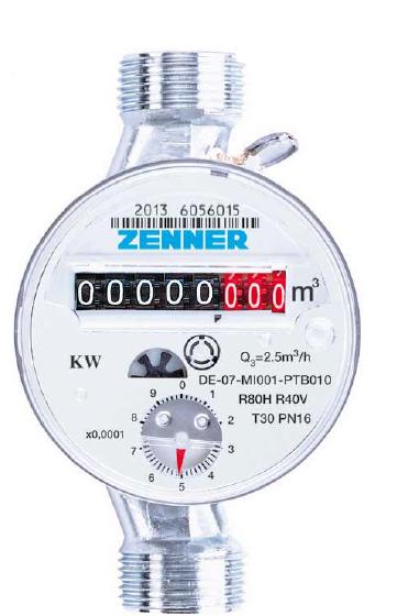 Contor apa calda ZENNER ETWD DN 15, Q3=2,5mc/h, MID R80-H ( Clasa B)