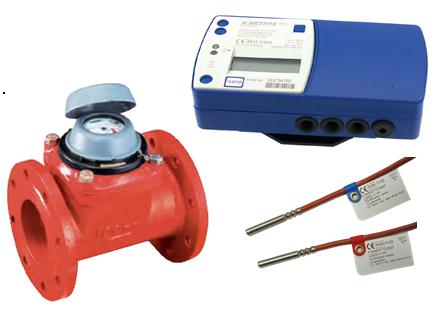 Contor energie termica HYDROSPLIT cu traductor mecanic WDEK30-R DN 80, Qn= 40 mc/h, Tmax. 90 grd. C, MID, racord cu flanse