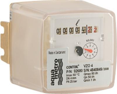 Contor motorina CONTOIL VZO 4, DN 4, Qn=50 L/h, Qmin= 1L/h, inclusiv set racorduri tarodate 1/8